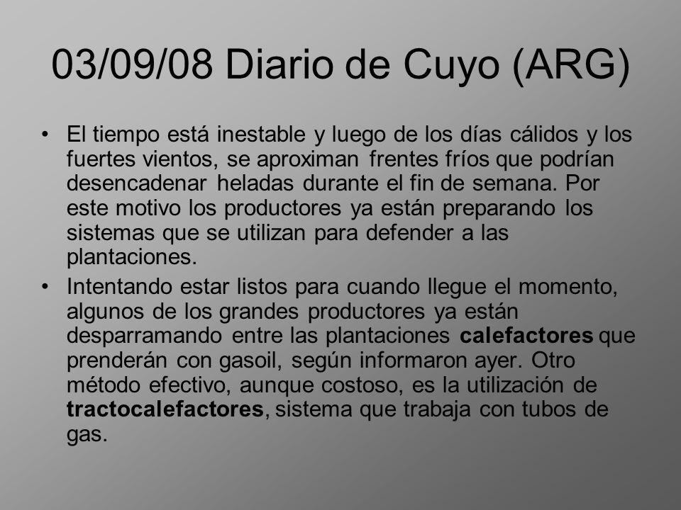 03/09/08 Diario de Cuyo (ARG)