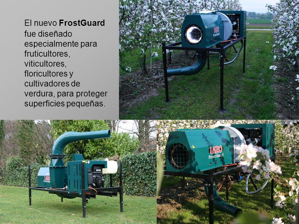 El nuevo FrostGuard fue diseñado especialmente para fruticultores, viticultores, floricultores y cultivadores de verdura, para proteger superficies pequeñas.