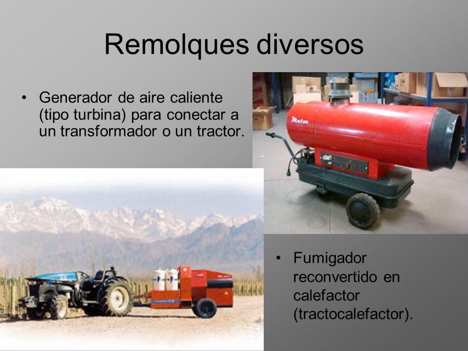 Remolques diversos Generador de aire caliente (tipo turbina) para conectar a un transformador o un tractor.