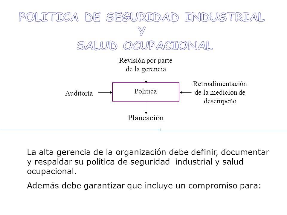 POLITICA DE SEGURIDAD INDUSTRIAL
