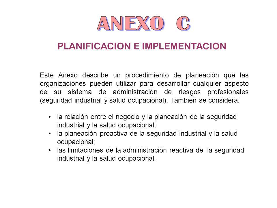 PLANIFICACION E IMPLEMENTACION