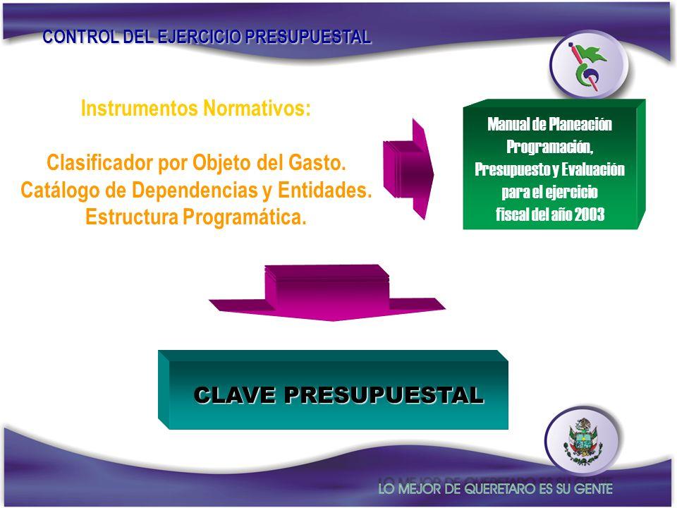 Instrumentos Normativos: Clasificador por Objeto del Gasto.