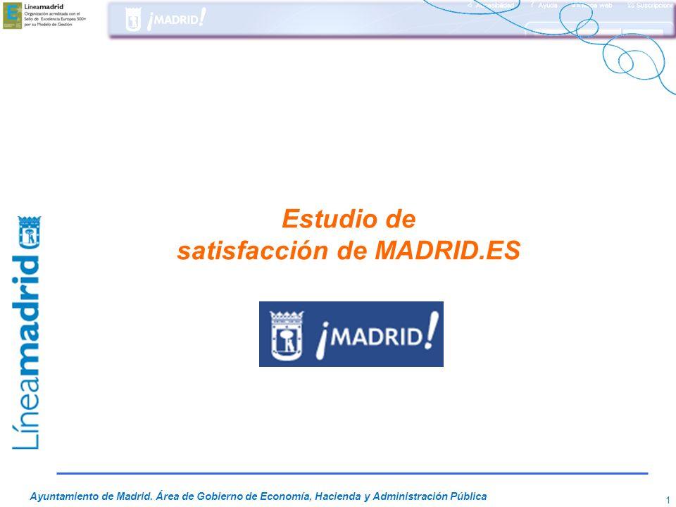 Estudio de satisfacción de MADRID.ES