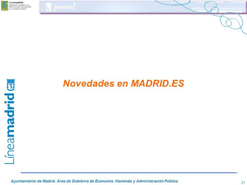 Novedades en MADRID.ES