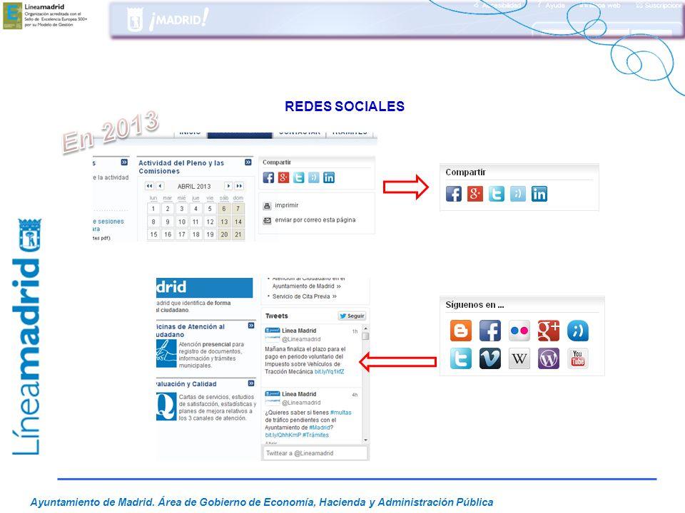 REDES SOCIALES En 2013