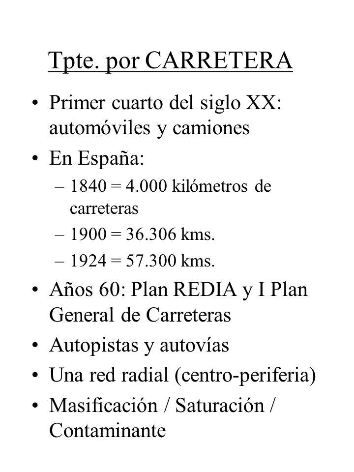 Tpte. por CARRETERA Primer cuarto del siglo XX: automóviles y camiones
