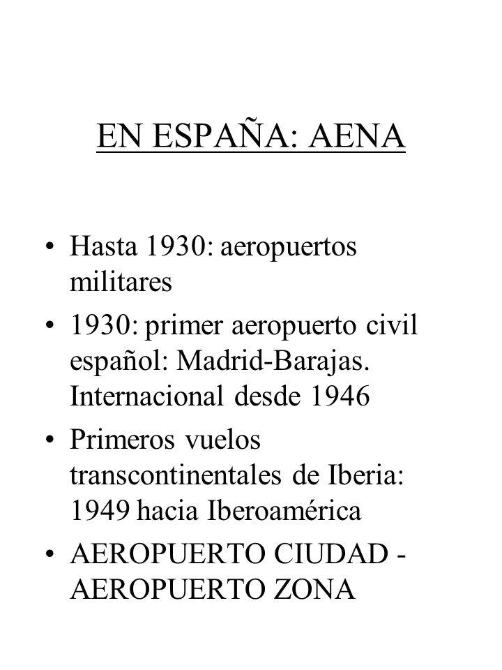 EN ESPAÑA: AENA Hasta 1930: aeropuertos militares