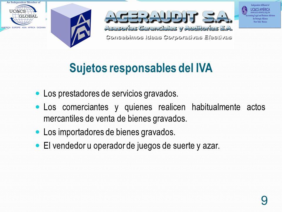 Sujetos responsables del IVA
