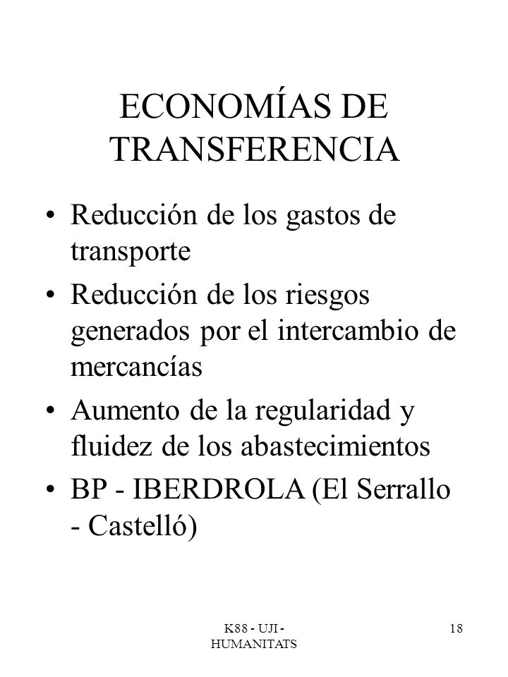 ECONOMÍAS DE TRANSFERENCIA