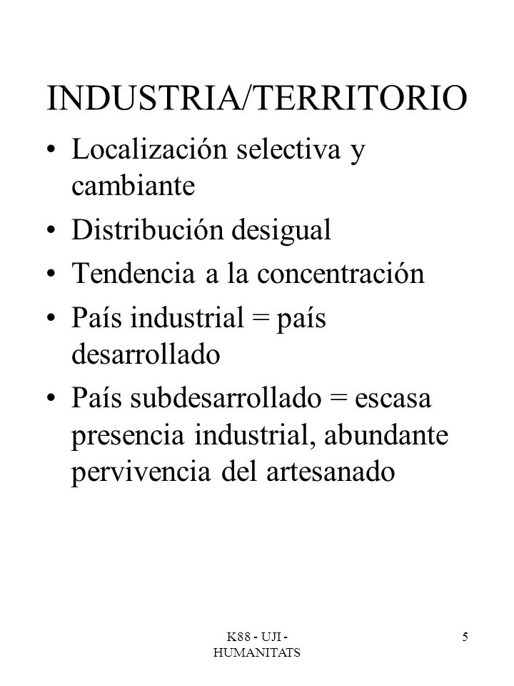 INDUSTRIA/TERRITORIO