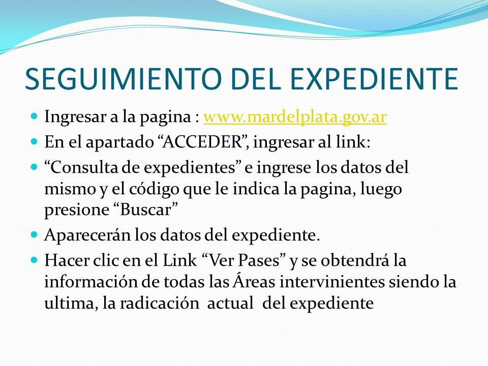SEGUIMIENTO DEL EXPEDIENTE