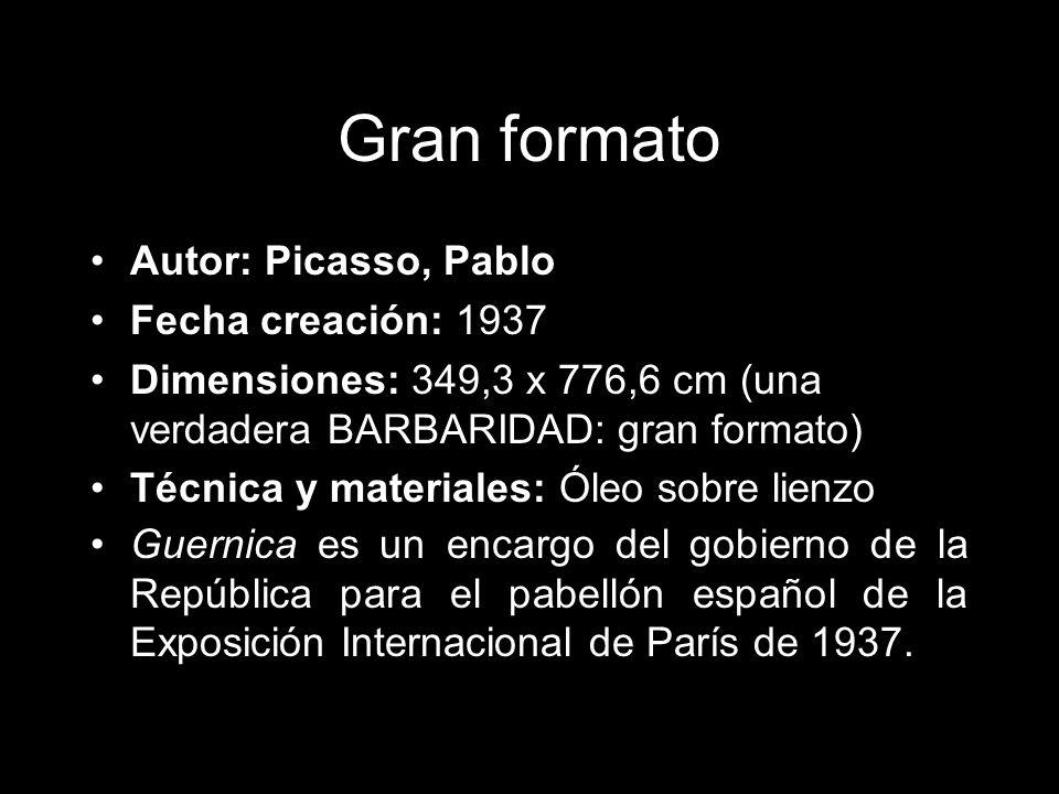 Gran formato Autor: Picasso, Pablo Fecha creación: 1937