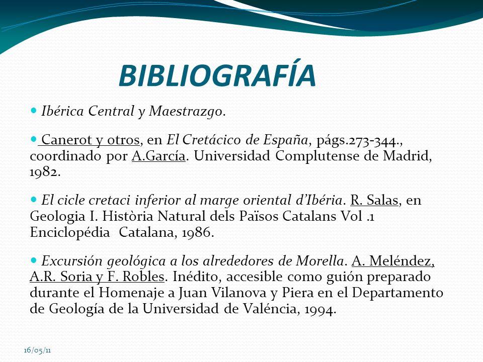 BIBLIOGRAFÍA Ibérica Central y Maestrazgo.