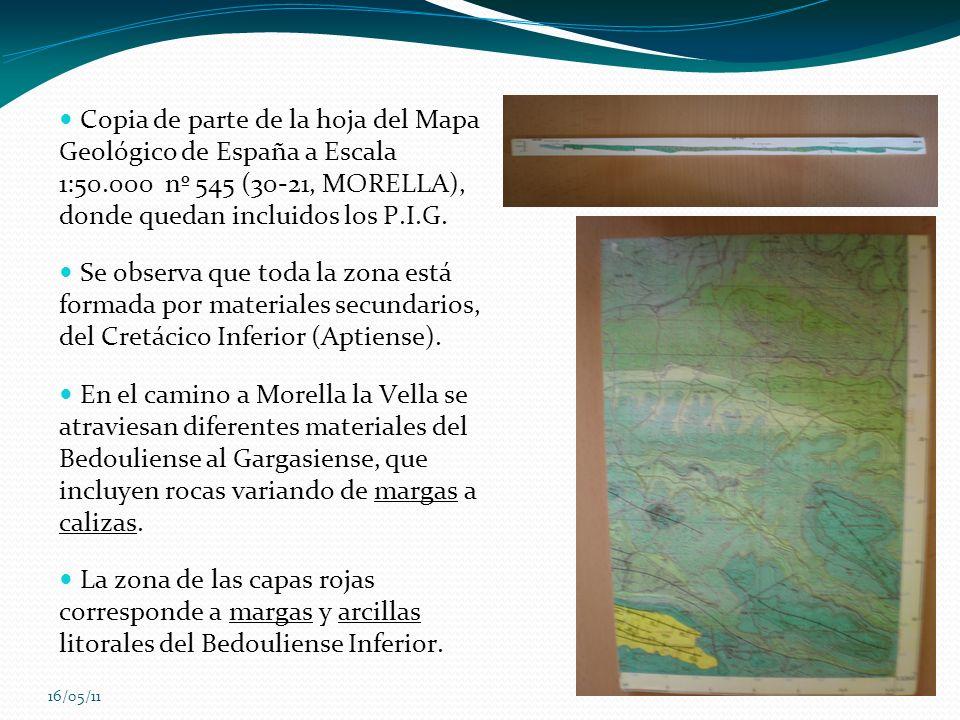 Copia de parte de la hoja del Mapa Geológico de España a Escala 1:50
