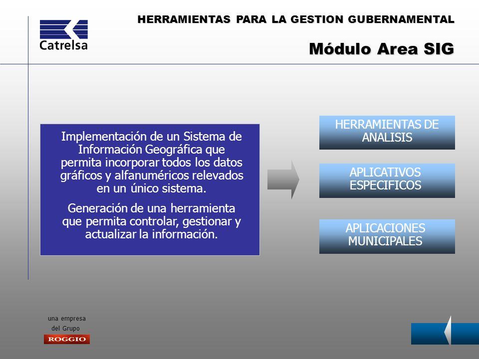 Módulo Area SIG HERRAMIENTAS DE ANALISIS