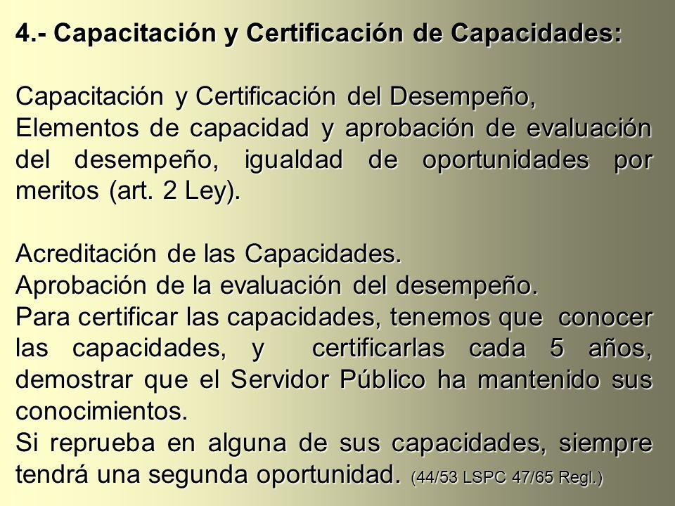 4.- Capacitación y Certificación de Capacidades: