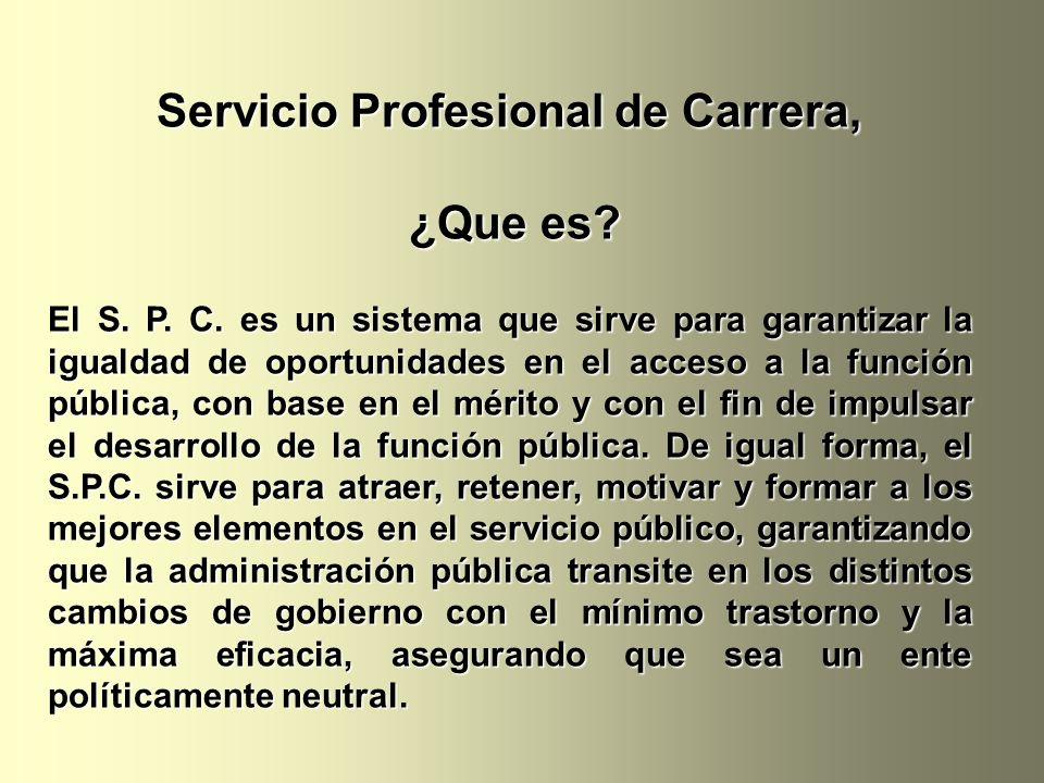 Servicio Profesional de Carrera,