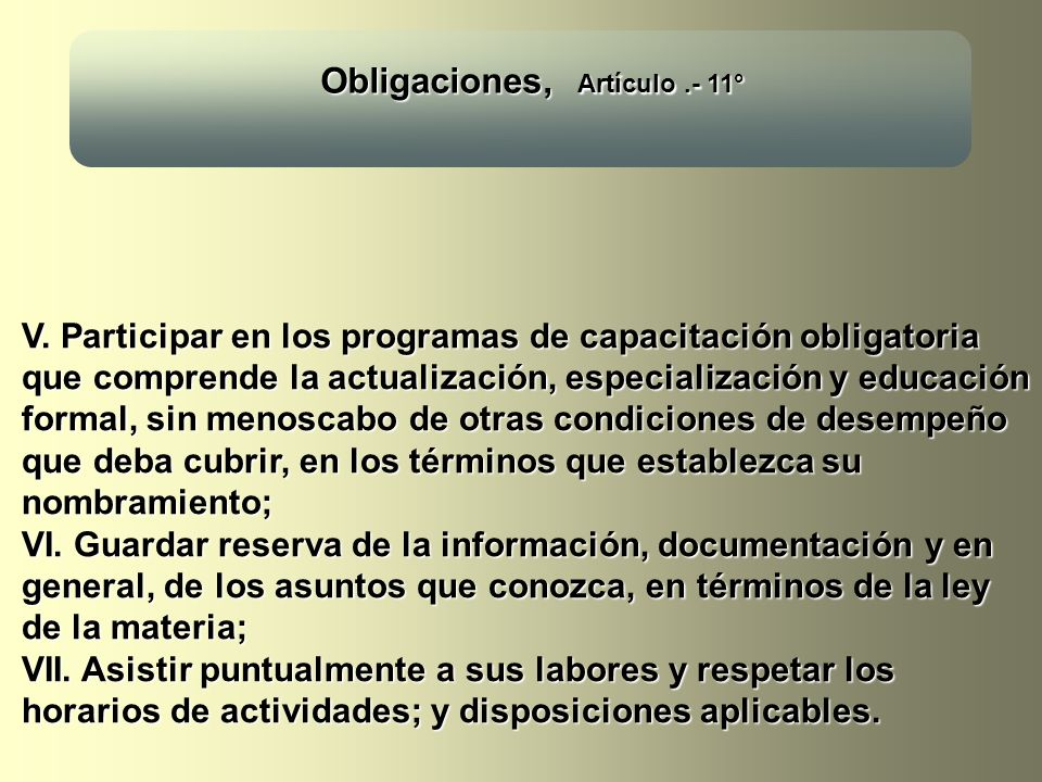 Obligaciones, Artículo .- 11°