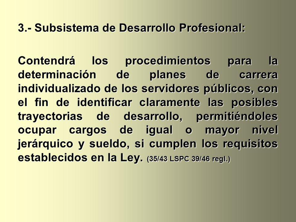 3.- Subsistema de Desarrollo Profesional: