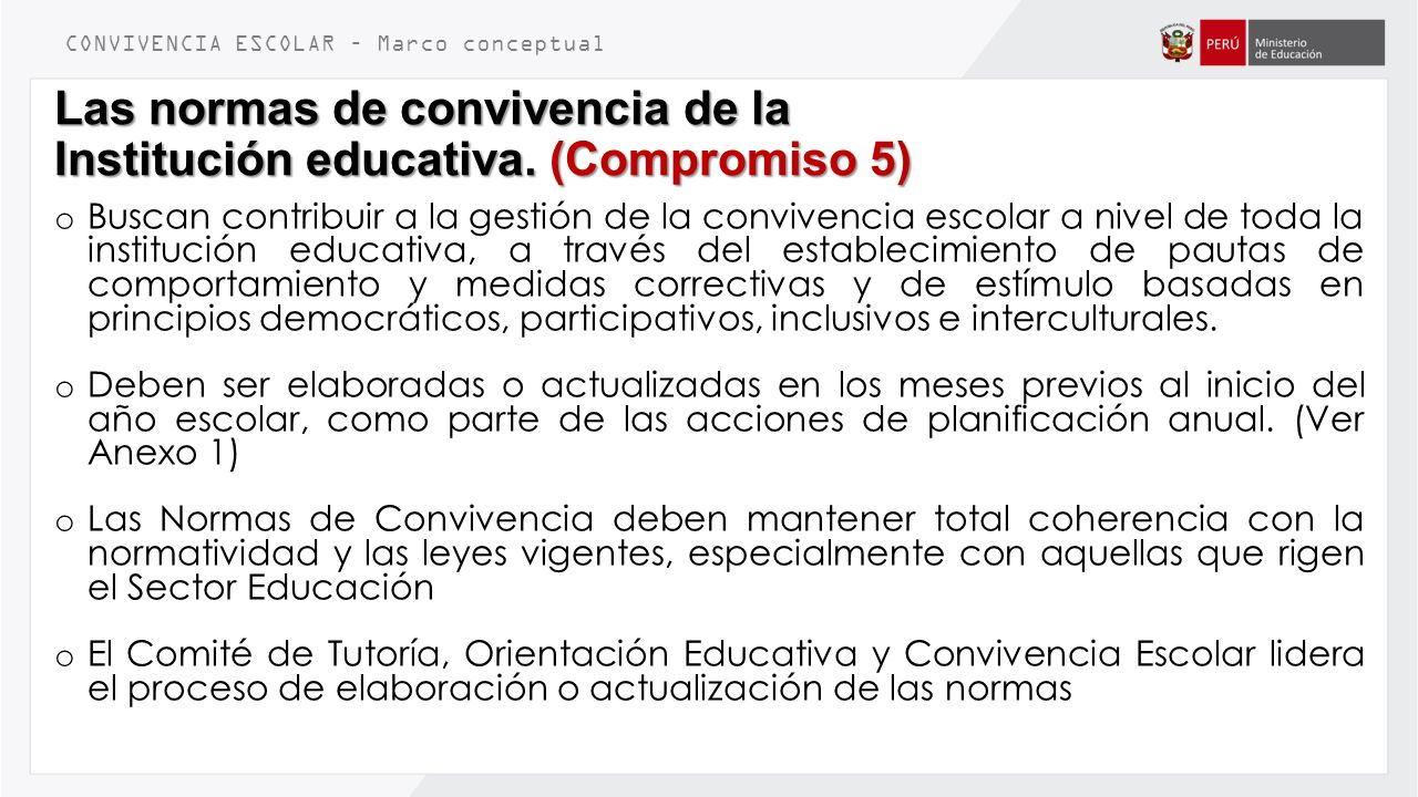 La convivencia escolar ppt video online descargar for Normas de comportamiento en el restaurante escolar