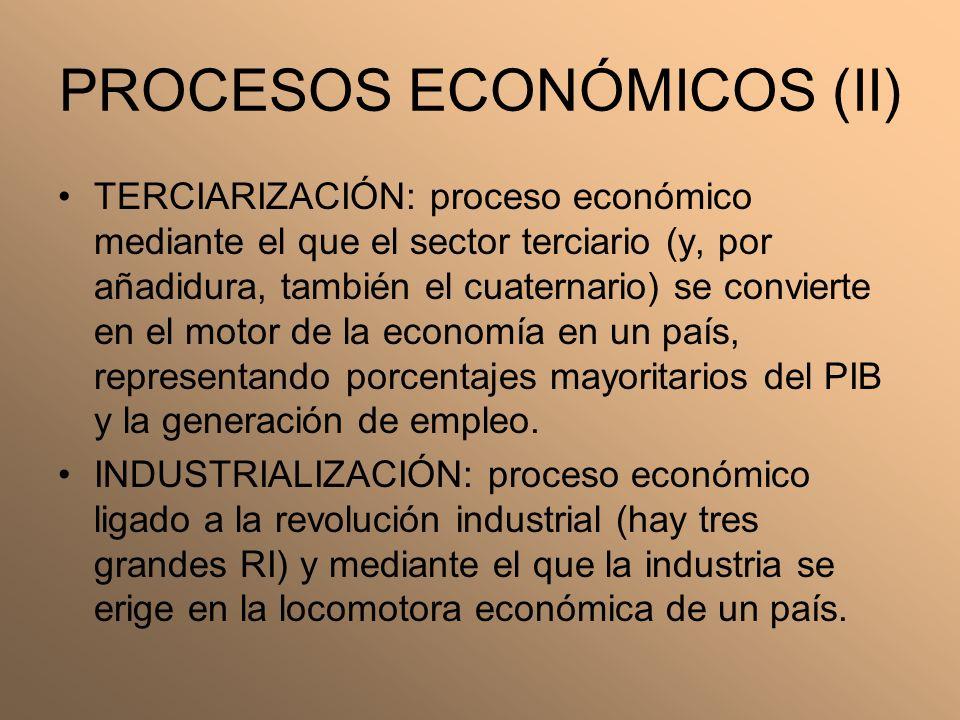 PROCESOS ECONÓMICOS (II)