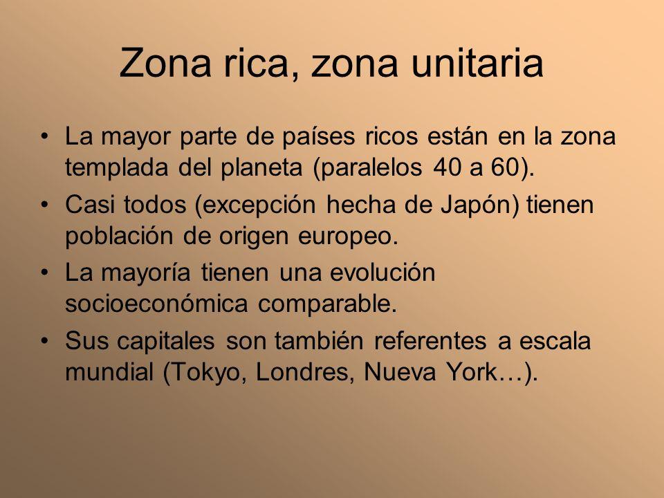 Zona rica, zona unitaria