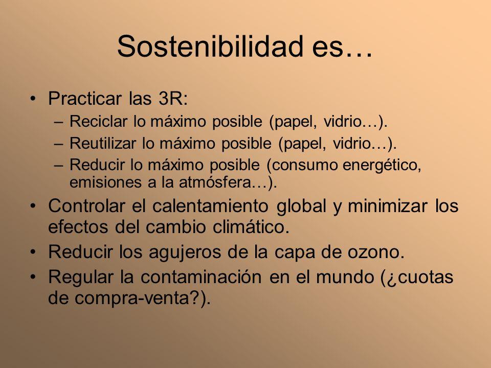 Sostenibilidad es… Practicar las 3R: