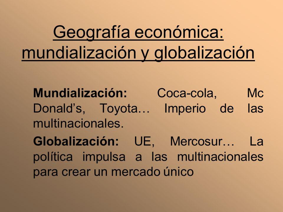 Geografía económica: mundialización y globalización
