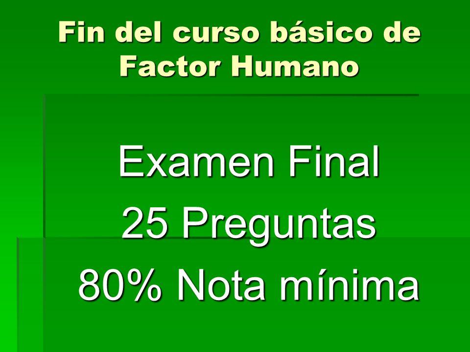 Fin del curso básico de Factor Humano