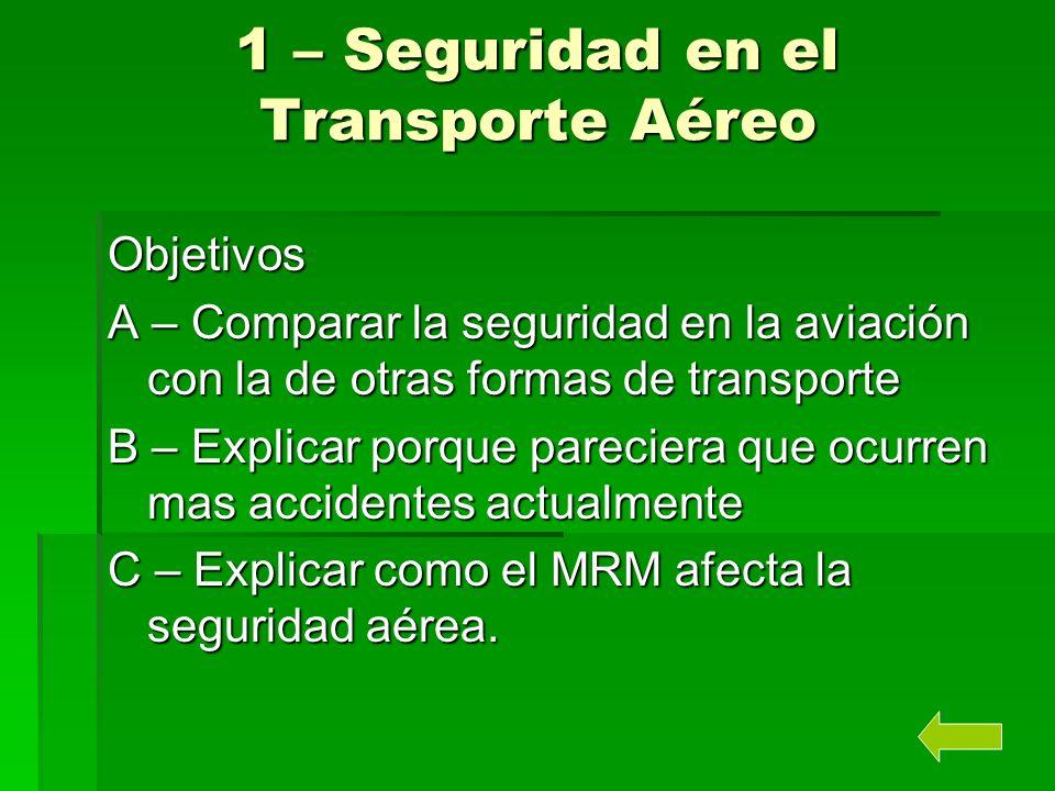 1 – Seguridad en el Transporte Aéreo