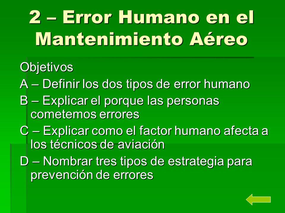 2 – Error Humano en el Mantenimiento Aéreo