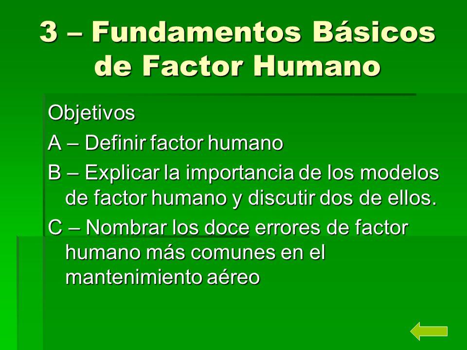 3 – Fundamentos Básicos de Factor Humano