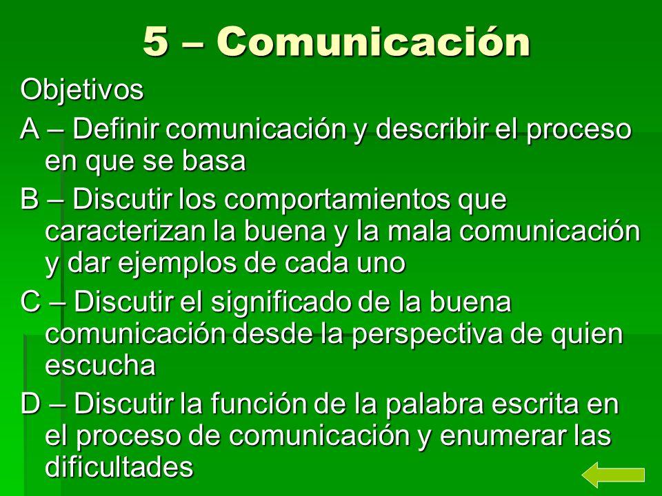 5 – Comunicación Objetivos