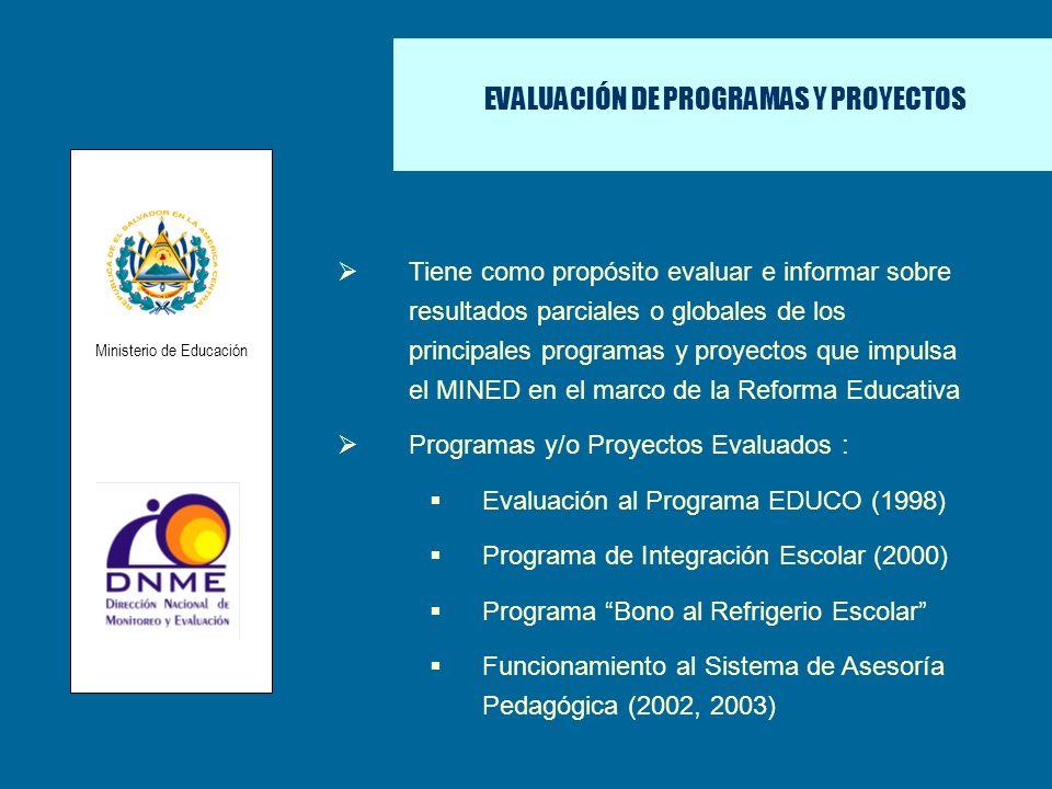 EVALUACIÓN DE PROGRAMAS Y PROYECTOS