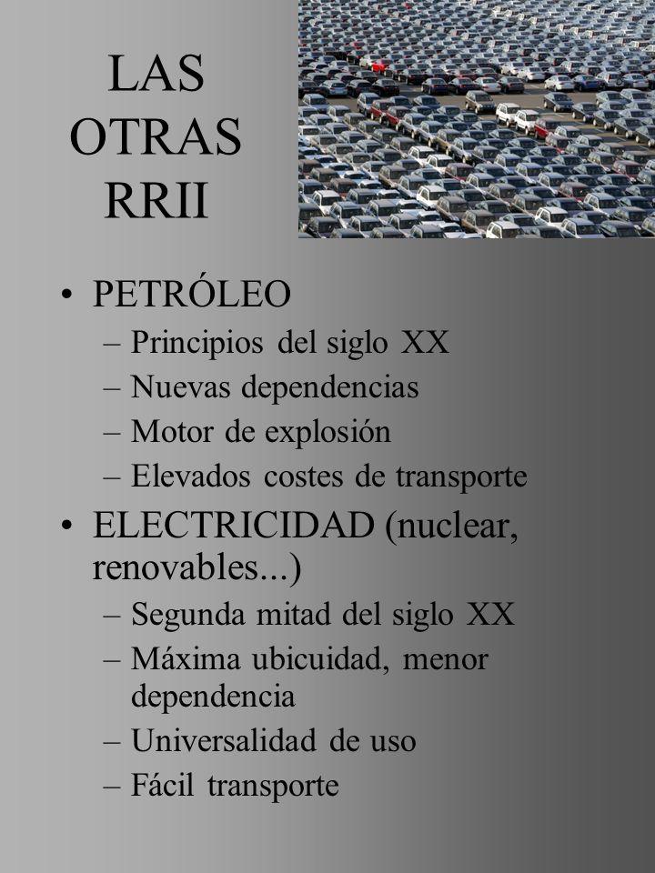 LAS OTRAS RRII PETRÓLEO ELECTRICIDAD (nuclear, renovables...)