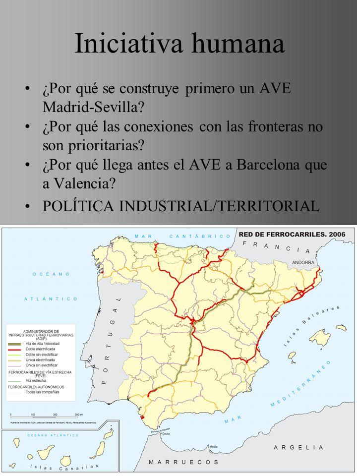 Iniciativa humana ¿Por qué se construye primero un AVE Madrid-Sevilla