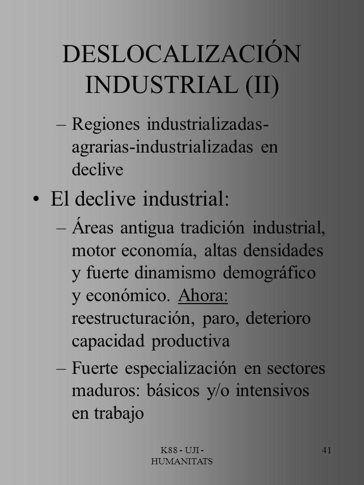 DESLOCALIZACIÓN INDUSTRIAL (II)