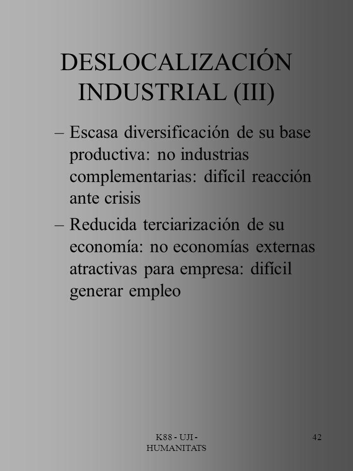 DESLOCALIZACIÓN INDUSTRIAL (III)