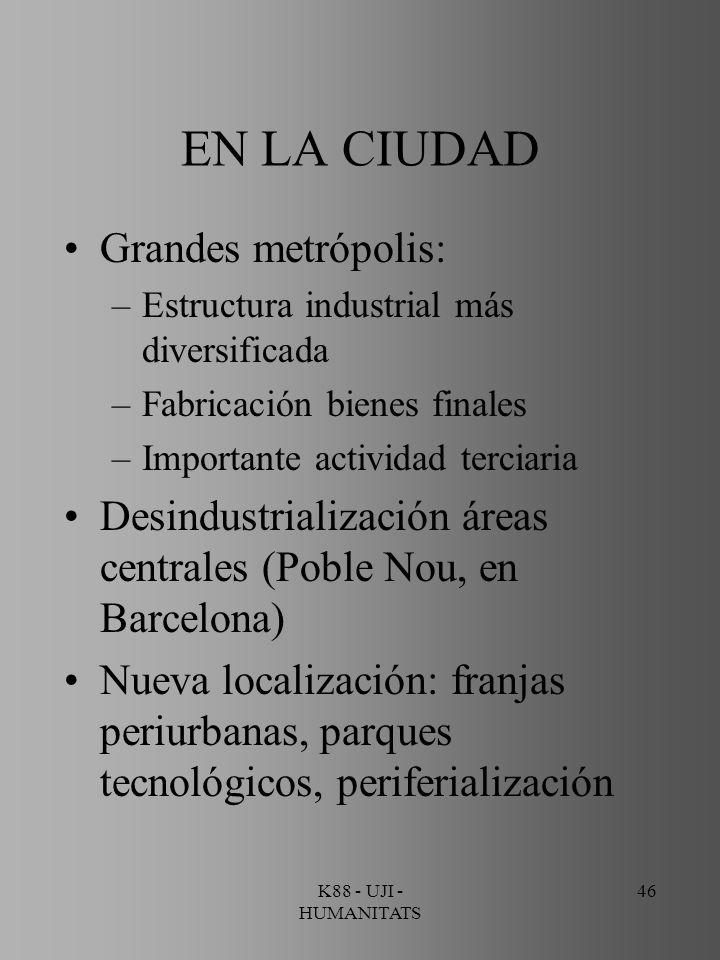 EN LA CIUDAD Grandes metrópolis: