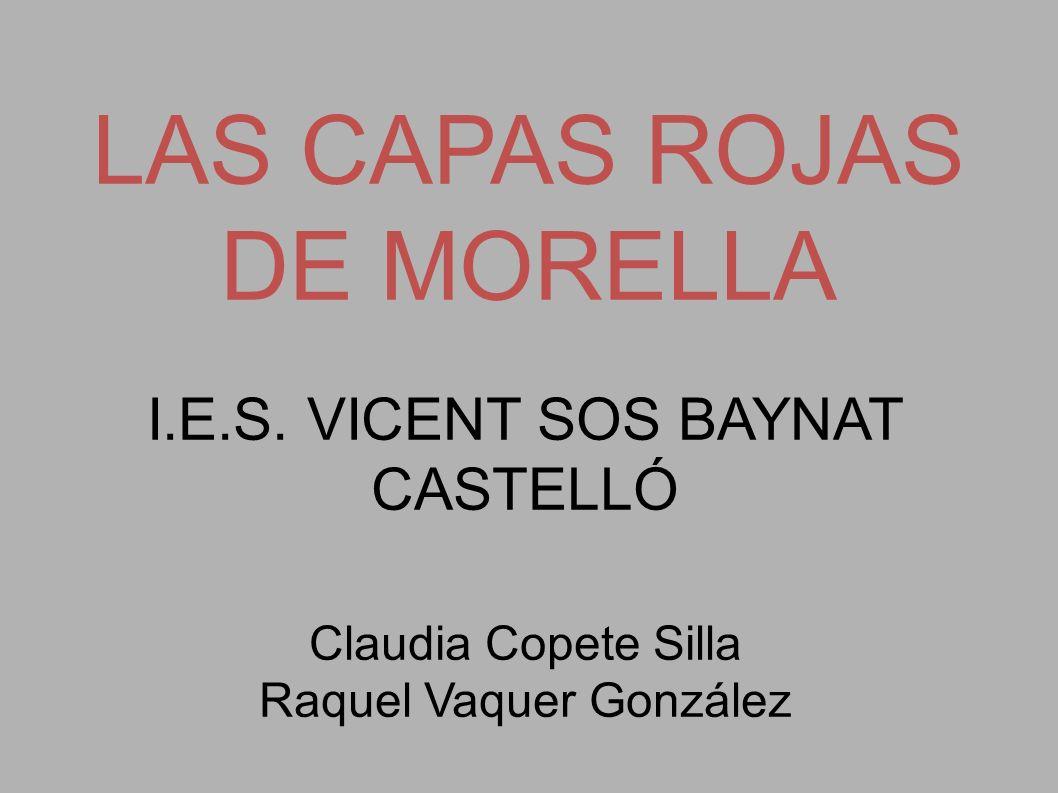 LAS CAPAS ROJAS DE MORELLA
