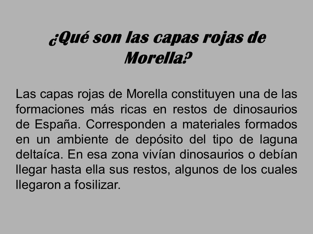 ¿Qué son las capas rojas de Morella