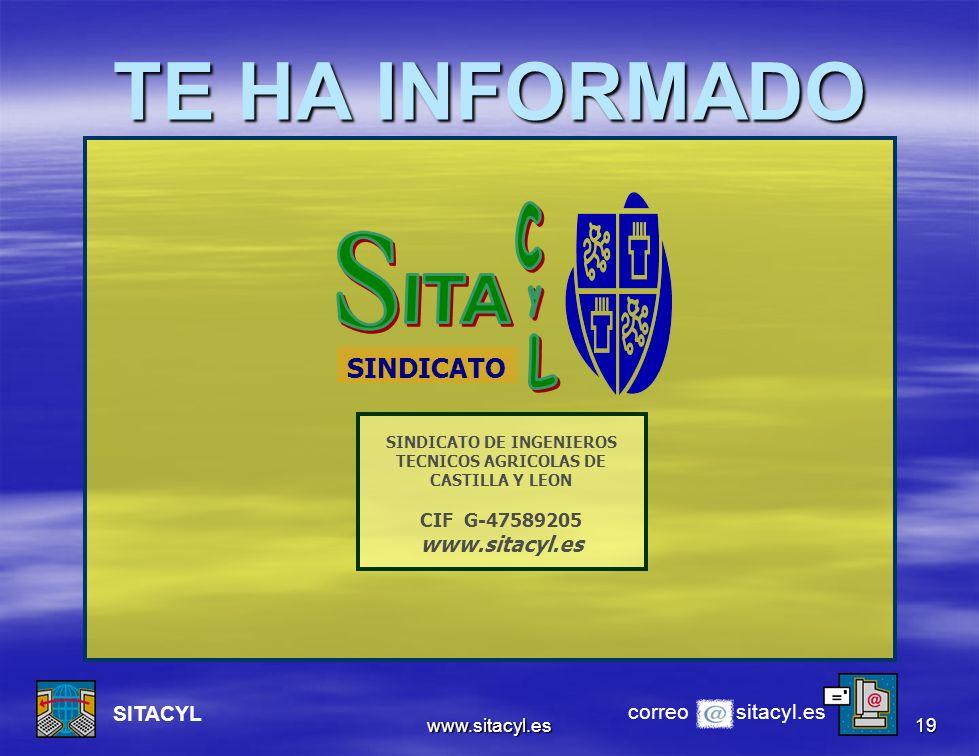 SINDICATO DE INGENIEROS TECNICOS AGRICOLAS DE CASTILLA Y LEON