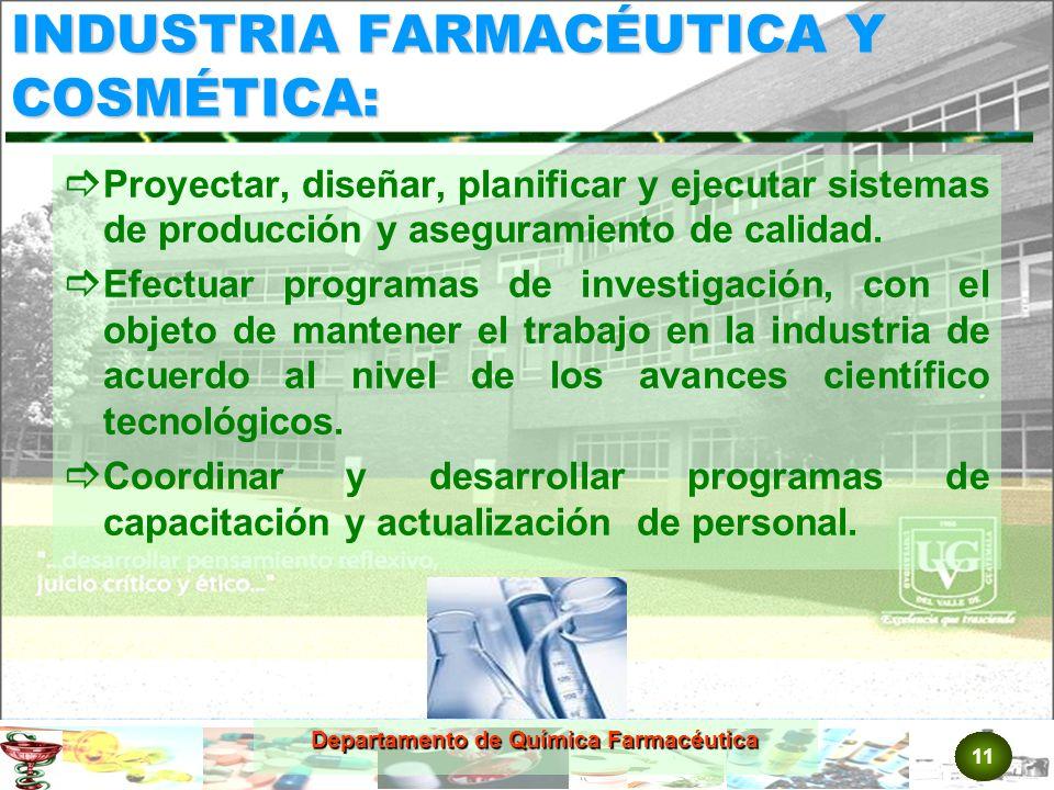 INDUSTRIA FARMACÉUTICA Y COSMÉTICA: