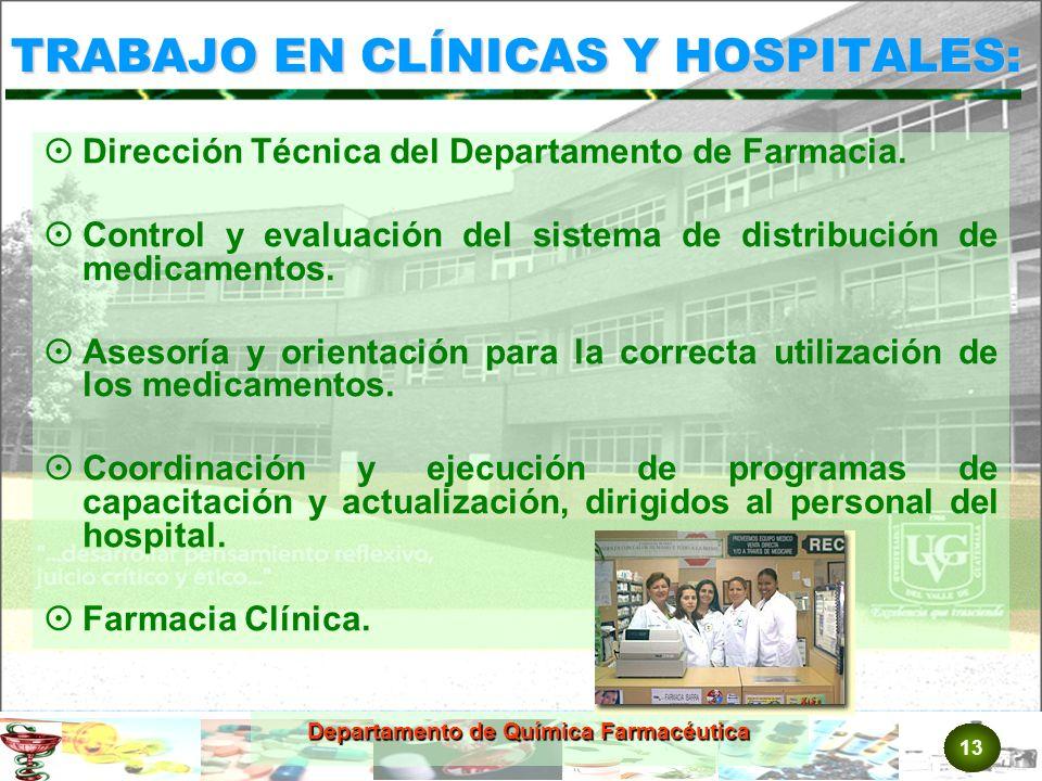 TRABAJO EN CLÍNICAS Y HOSPITALES: