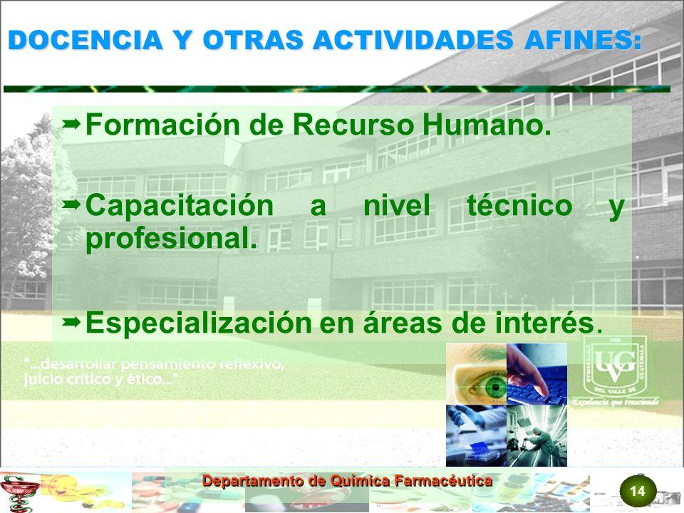 DOCENCIA Y OTRAS ACTIVIDADES AFINES: