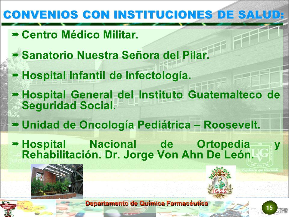 CONVENIOS CON INSTITUCIONES DE SALUD: