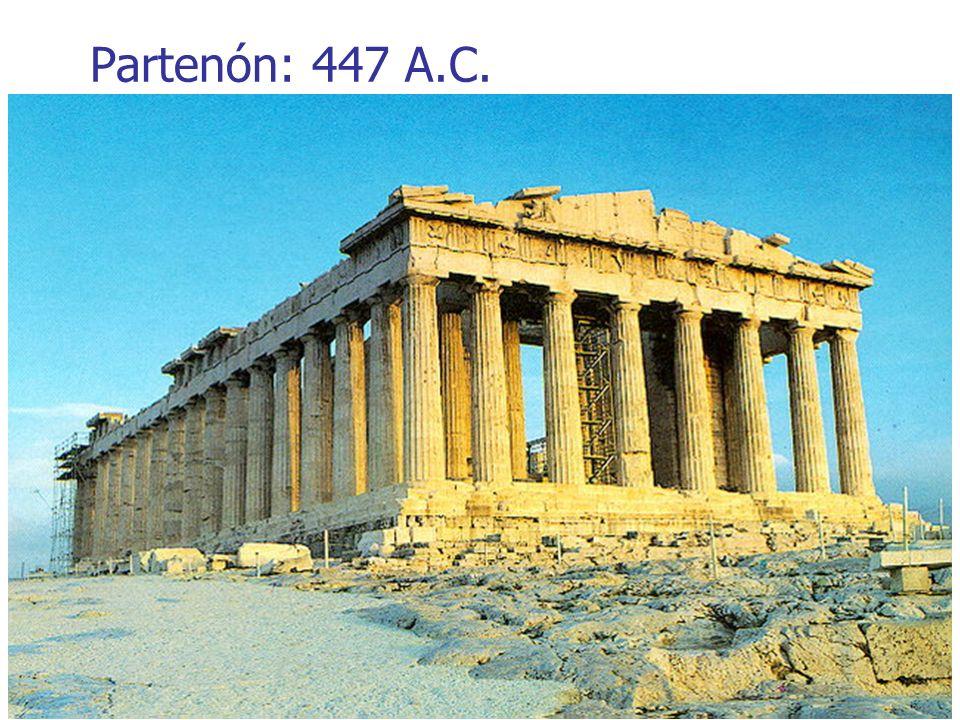 Partenón: 447 A.C.