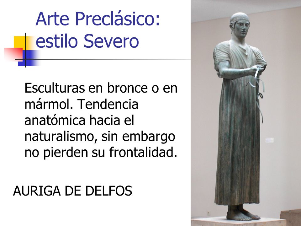 Arte Preclásico: estilo Severo