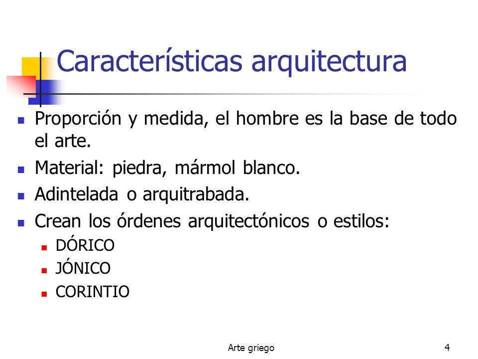 Características arquitectura