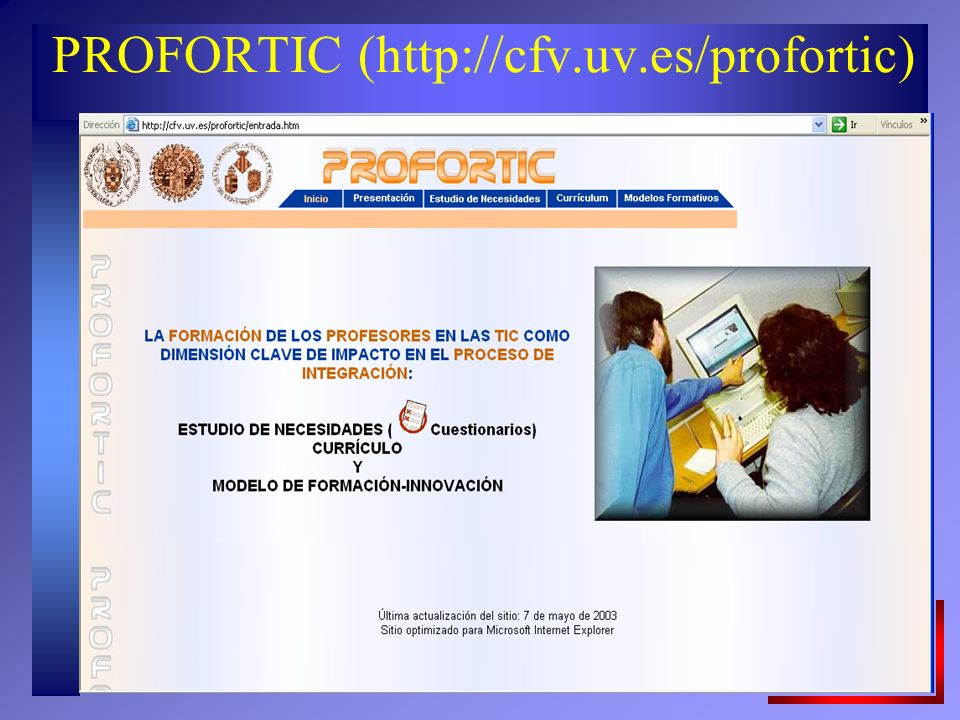 PROFORTIC (http://cfv.uv.es/profortic)